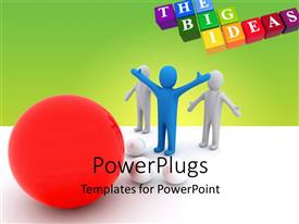 PowerPlugs: PowerPoint template with colored cubes form THE BIG IDEAS with big red ball