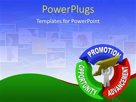 PowerPlugs: PowerPoint template with colored cycle from opportunity to promotion and advancement