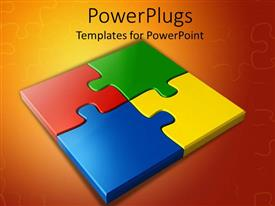 PowerPlugs: PowerPoint template with colored Puzzles