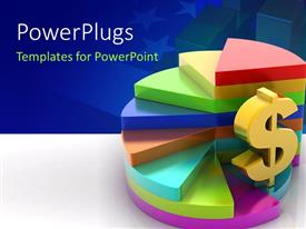 PowerPlugs: PowerPoint template with various pie charts and a dollar sign