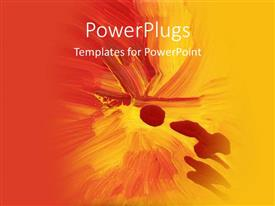 PowerPoint template displaying colorful abstract art with splash of red and yellow