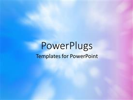PowerPlugs: PowerPoint template with colorful abstract decorative background shot using the zoom effect of clouds in the sky