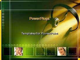 PowerPlugs: PowerPoint template with a colorful background with a headphone
