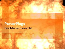 PowerPlugs: PowerPoint template with a colorful background with a lot of smoke