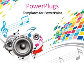 PowerPlugs: PowerPoint template with a colorful background and a number of speakers