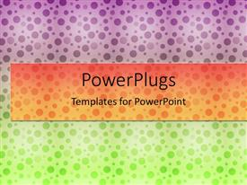 PowerPlugs: PowerPoint template with colorful background with purple, orange and green dots
