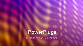 PowerPoint template displaying a colorful background with a sentence - widescreen format