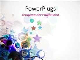 PowerPlugs: PowerPoint template with colorful circles and stars with grey color