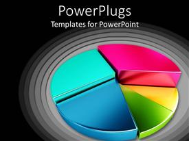 PowerPoint template displaying colorful Division of sectors