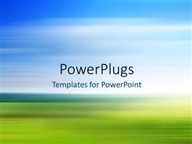PowerPlugs: PowerPoint template with colorful and fast blurred background, a motion landscape