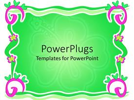 PowerPlugs: PowerPoint template with a colorful frame of spirals, hearts and flowers with place for text in the middle