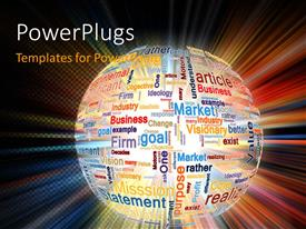 PowerPlugs: PowerPoint template with a colorful globe with a colorful background