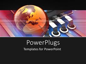 PowerPlugs: PowerPoint template with a colorful globe with an electronic background