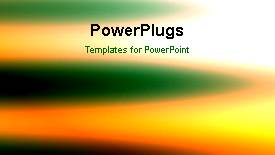PowerPoint template displaying a colorful moving background with a sentence - widescreen format