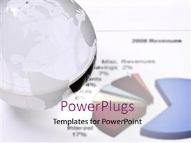 PowerPlugs: PowerPoint template with colorful pie chart with and earth globe and figures