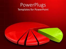 PowerPlugs: PowerPoint template with a colorful pie chart with reddish background