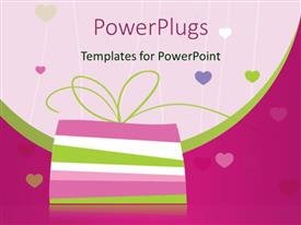 PowerPlugs: PowerPoint template with colorful pile of books with colored love shapes