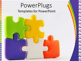 PowerPlugs: PowerPoint template with colorful puzzle pieces