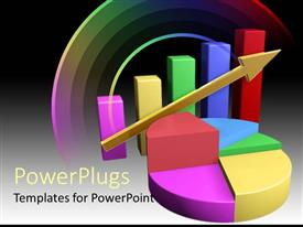 PowerPlugs: PowerPoint template with a colorful representation of a graph along with a colorful background