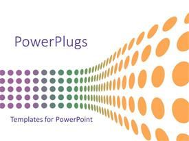 PowerPlugs: PowerPoint template with colorful round wavy dots displayed on white background