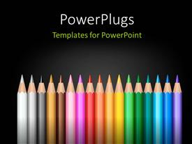 PowerPlugs: PowerPoint template with colorful stylish design layout using colored pencils with black color