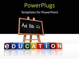 PowerPlugs: PowerPoint template with colorful text that spell out the word 'ABC'