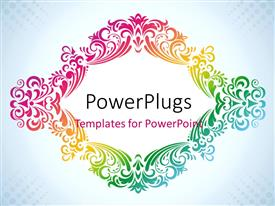 PowerPlugs: PowerPoint template with colorful vintage frame depiction for design