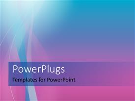 PowerPlugs: PowerPoint template with colorful waves on a nice abstract ramp background