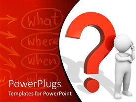 PowerPlugs: PowerPoint template with a combination of 4 Ws with red question mark