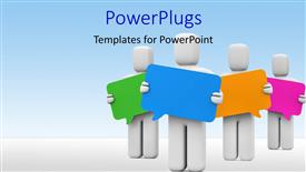 PowerPoint template displaying a number of figures with ideas