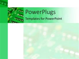 PowerPoint template displaying a computer chip with its shadow in the background