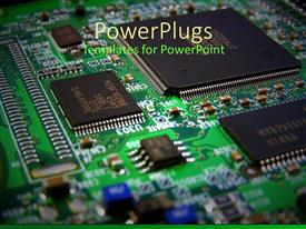 PowerPlugs: PowerPoint template with computer components Circuit board, graphics card