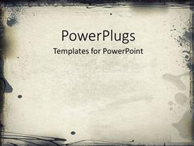 PowerPoint template displaying computer designed highly detailed grunge frame