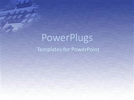 PowerPlugs: PowerPoint template with computer keyboard in upper left corner with shades of grey