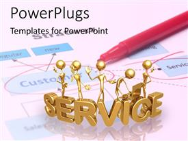 PowerPlugs: PowerPoint template with various people with the word service