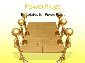 PowerPlugs: PowerPoint template with a number of people with puzzle pieces