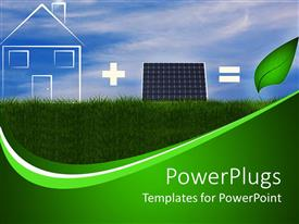 PowerPlugs: PowerPoint template with the concept of green energy related to solar panels