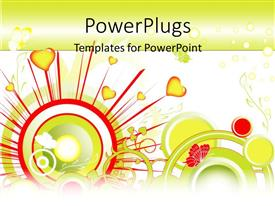 PowerPlugs: PowerPoint template with concept of a lovely valentine background with love, plants and butterfly