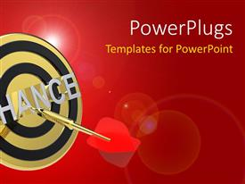 PowerPlugs: PowerPoint template with an arrow hitting the bulls eye