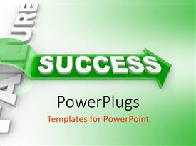PowerPlugs: PowerPoint template with concept of overcoming hurdles to achieve success with green color