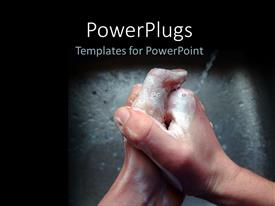 PowerPlugs: PowerPoint template with concept of personal hygiene depicting hand wash