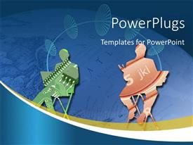 PowerPlugs: PowerPoint template with a concept of technology usage sharing data