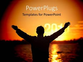 PowerPlugs: PowerPoint template with concept 'welcome year 2011', sunrise