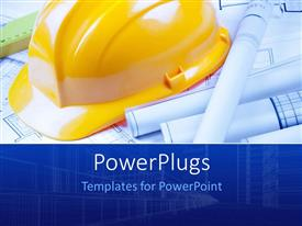 PowerPlugs: PowerPoint template with a construction cap with a number of designs