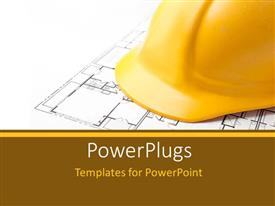PowerPlugs: PowerPoint template with a construction worker hat with a design in the background