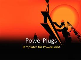 PowerPlugs: PowerPoint template with a construction worker on the move