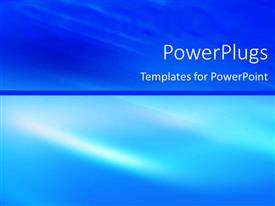 PowerPlugs: PowerPoint template with contrasting abstract blue top and bottom halves