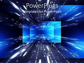 PowerPlugs: PowerPoint template with cool abstract digital background with rays and numbers moving