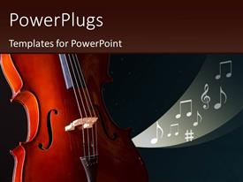 PowerPlugs: PowerPoint template with cool background with cello and music symbols