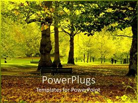 PowerPlugs: PowerPoint template with a couple sitting on the bench with greenery